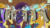 Five Discord duplicates standing together S7E12