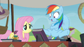 Fluttershy and super-excited Rainbow S4E22.png