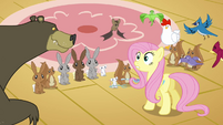 Fluttershy calms the animals down S3E13