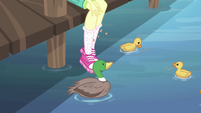 Fluttershy feeding the lake ducks EG4