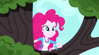 Pinkie Pie climbing the tree SS10