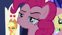 Pinkie Pie with a hmm face S6E1