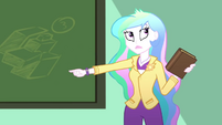 Principal Celestia hears the P.A. system SS8