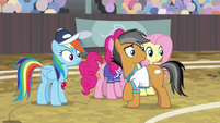 Rainbow and Quibble hear Wind Sprint S9E6