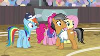 Rainbow and Quibble hear Wind Sprint S9E6
