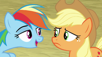 Rainbow tells AJ to buck a single apple BGES1