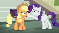 Rarity asking if Applejack is alright S5E16