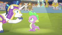 "Shining Armor ""they only play the anthem for the winner"" S4E24"
