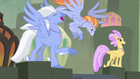 Sky Beak screeching at the Mount Aris beach S8E6