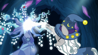 Star Swirl casting magic on the Tree of Harmony S7E26