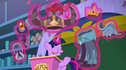 Twilight levitating Clover the Clever's Cloak S8E15