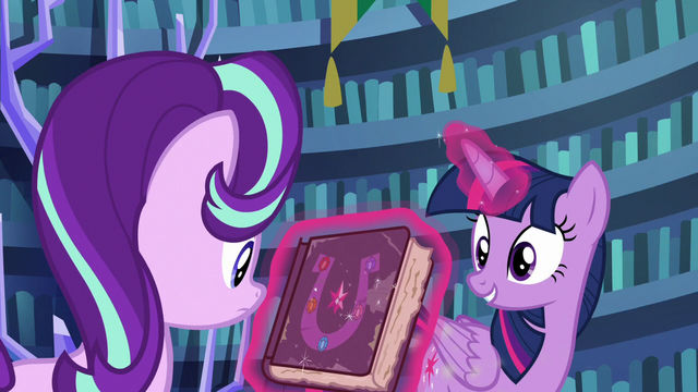 File:Twilight shows the friendship journal to Starlight S7E14.png