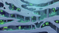 Wide view of changeling hive interior S6E25