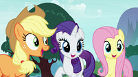 AJ, Rarity, and Fluttershy like Twilight's idea S8E18