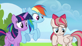 Angel Wings shy to meet Twilight and Rainbow S6E24.png