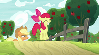 Apple Bloom jumping with elation S9E10