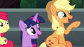 Applejack calls out to Rainbow Dash S6E7.png