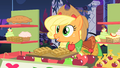 Applejack charges Rarity and Blueblood for fritters S1E26.png