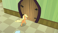 Applejack outside the surgery theater door S6E23.png