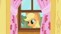 Applejack staring through window S01E18