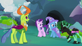 Changeling appears covered in black paint S7E17.png