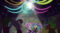 Disco ball sparkling on gym ceiling EG3