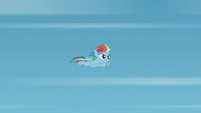 Filly Rainbow Dash soars through the air S5E25