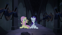Fluttershy and Rarity freed from trap S4E03