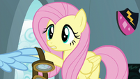 Fluttershy gives Rainbow her goggles S6E7