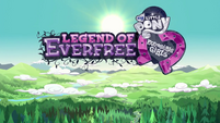 Legend of Everfree opening credits crystallized logo EG4