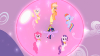 Main ponies shielded by the forcefield S2E2