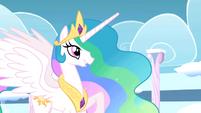 Princess Celestia praises Rainbow Dash's performance S01E16