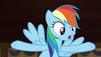 Rainbow Dash -before the curse took effect- S7E18