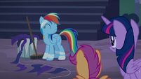 Rainbow Dash happy about her punishment S6E7