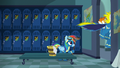 Rainbow left alone in the locker room S6E7.png