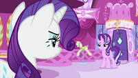 Rarity facing Starlight Glimmer MLPS1