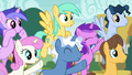 Spectating ponies cheering loudly S6E14.png