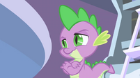 Spike before he delivers Celestia's reply to Twilight S1E01