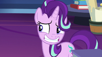 Starlight Glimmer grins awkwardly at Twilight S7E26