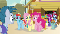 Team Ponyville fan approaches main ponies S9E6