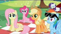 The ponies see Twilight while she is worried S2E03