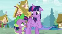 Twilight apologizes to Spike S5E3