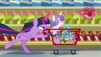 Twilight races through the store collecting toys S7E3