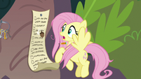 Acorn thunks against Fluttershy's list S9E18