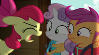 Apple Bloom shouts --nothing!-- S6E4