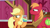 Applejack and Big Mac disappointed in Apple Bloom S6E23