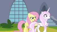 "Fluttershy ""a slight delay on the gala!"" S9E13"