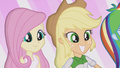 Fluttershy and Applejack impressed EG2.png