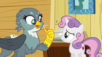 Gabby --Rainbow Dash asked me to pick up-- S6E19