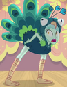 Lyra Heartstrings peacock costume ID EG3